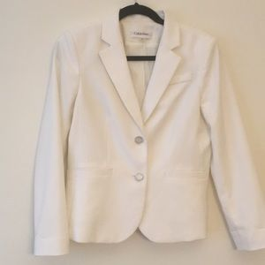 Jackets & Blazers - White Calvin Klein blazer - Like new